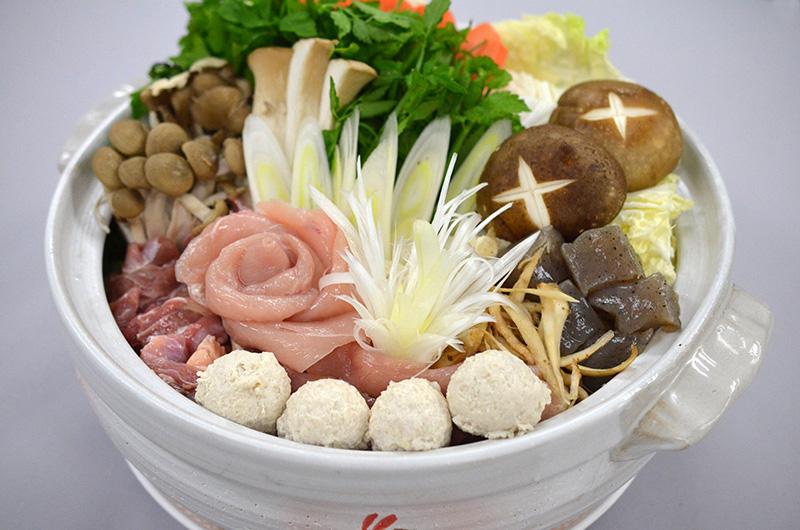 つくばしゃも鍋【野菜付きで便利です!】【送料無料】3~4人前のしゃも鍋セットです。